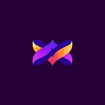 Abstraktes logo-schmetterlingsdesign