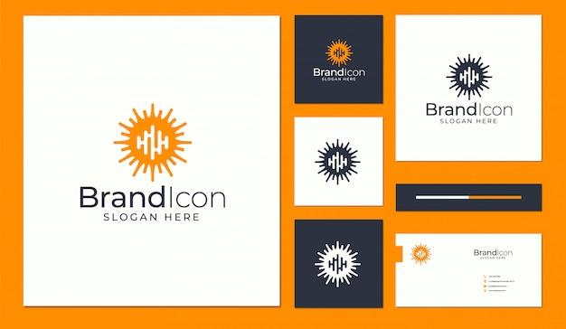 Abstraktes logo und visitenkarten-design