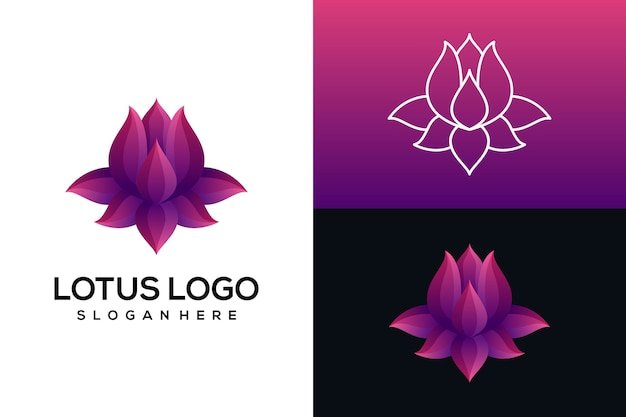 Abstraktes lotus-logo