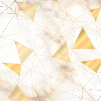 Abstraktes low-poly-design auf einer textur im marmorstil