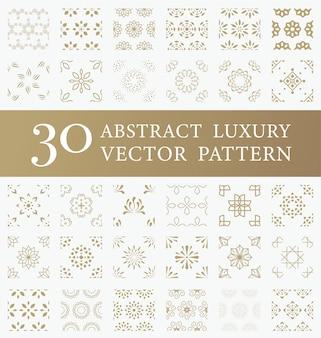 Abstraktes luxusvektormustermuster