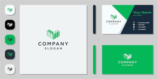 Abstraktes m-logo und visitenkarte