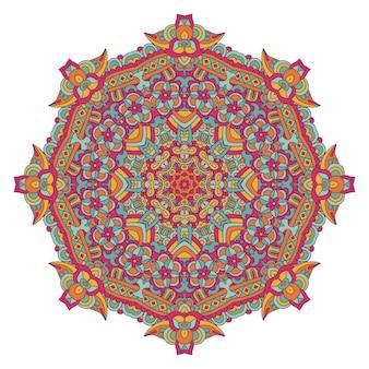 Abstraktes mandala-design des bunten orientalischen stils
