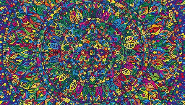 Abstraktes mandala mit bunten formen künstlerischer mustervektorhintergrund