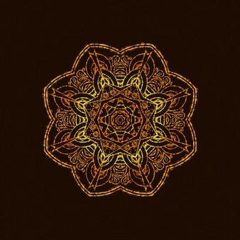 Abstraktes mandala mit licht.