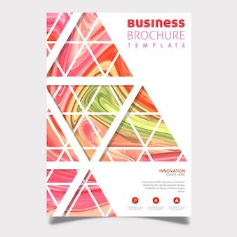 Abstraktes marmor-geschäfts-broschüren-design