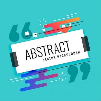 Abstraktes memphis-art-hintergrunddesign