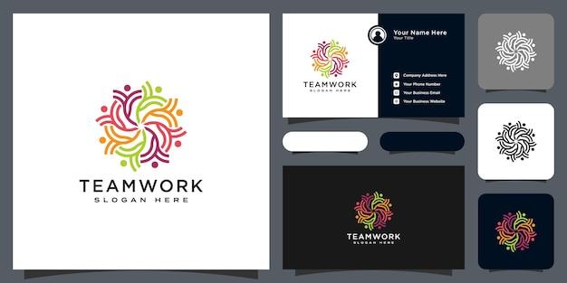 Abstraktes menschenvektordesign steht für teamwork, vielfalt, zeichen und symbole.