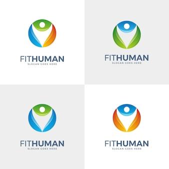 Abstraktes menschliches logo