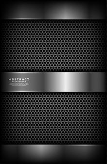 Abstraktes metall mit silbernem plattenhintergrund