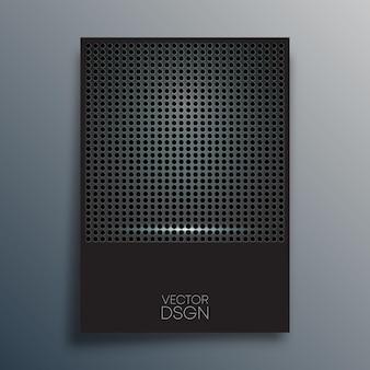 Abstraktes metallisches design für flyer, poster, broschürencover, hintergrund, tapeten, typografie oder andere druckprodukte. vektor-illustration.