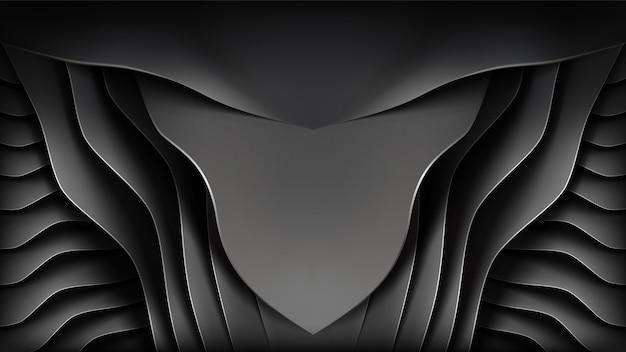 Abstraktes metallisches gemischt mit papierkunstart, realistischer löwegesichtshintergrund. plus entfernbarer edelstahlring.