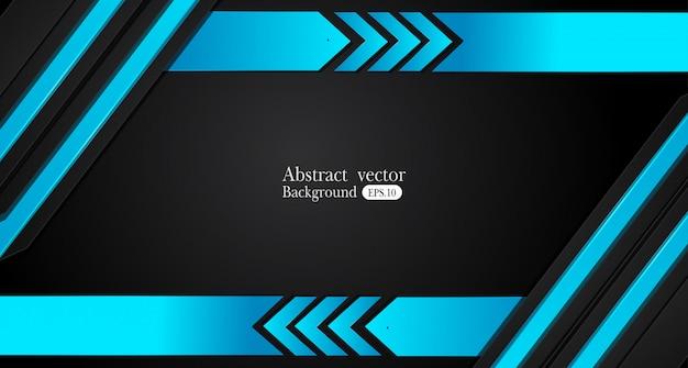 Abstraktes metallisches rahmendesign-innovationskonzept des blauen schwarzen