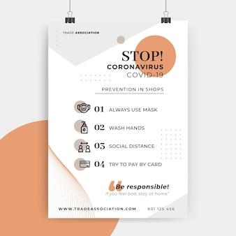 Abstraktes minimalistisches coronavirus-plakat