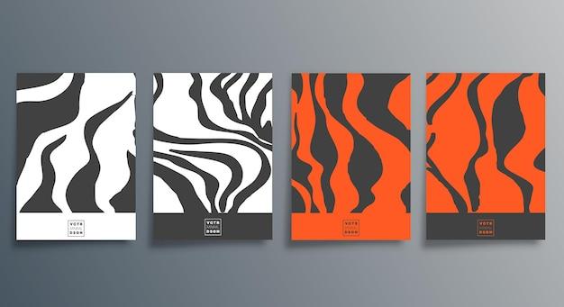 Abstraktes minimalistisches design für flyer, poster, broschürencover, hintergrund, tapeten, typografie oder andere druckprodukte. vektor-illustration.