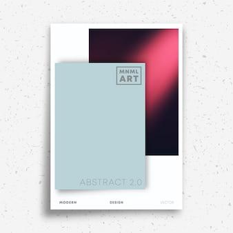 Abstraktes minimalistisches design für flyer, poster, broschürencover, portfolio-vorlage, tapete, typografie oder andere druckprodukte. vektor-illustration.