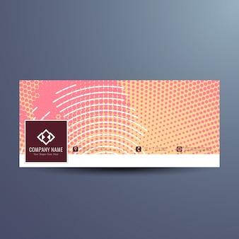 Abstraktes modernes facebook banner design Kostenlosen Vektoren