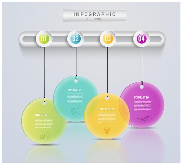 Abstraktes modernes geschäftstagkonzept für infographic.