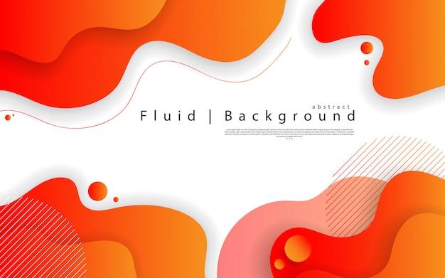Abstraktes modernes grafisches element. dynamische farbige formen und wellen. abstrakter hintergrund der steigung mit flüssigen flüssigen formen.