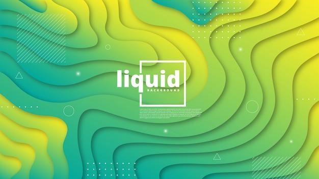 Abstraktes modernes grafisches element. dynamische farbige formen und wellen.