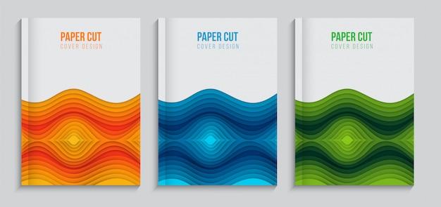 Abstraktes modernes papierschnitt-abdeckungsbühnenbild