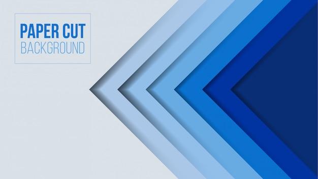 Abstraktes modernes papierschnitt-hintergrunddesign