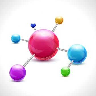 Abstraktes molekül 3d