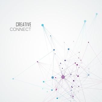 Abstraktes molekulares netzwerk