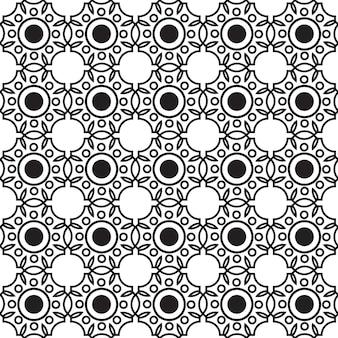Abstraktes monochromes nahtloses muster mit verbundener sich wiederholender geometrischer struktur in minimalistischer stilillustration