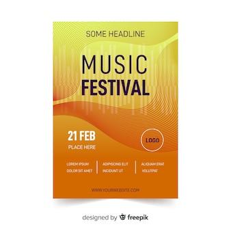 Abstraktes musik festival poster