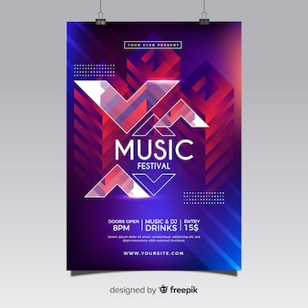 Abstraktes musikfestival-plakat