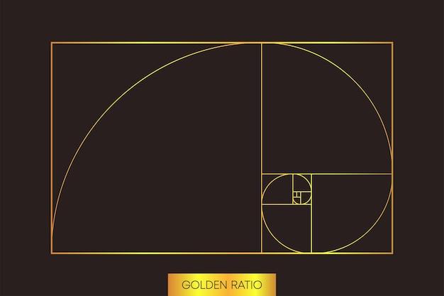 Abstraktes muster auf hellem hintergrund. goldene ration. abstrakte geometrie. vektor-illustration.
