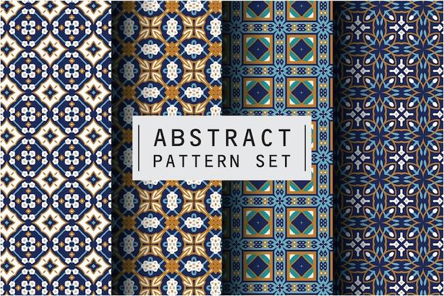 Abstraktes muster im ethnischen dekorativen stil