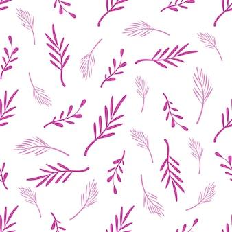 Abstraktes nahtloses blumenmuster mit tropischen palmenblättern
