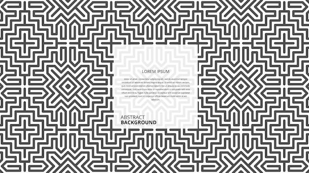 Abstraktes nahtloses geometrisches formlinienmuster