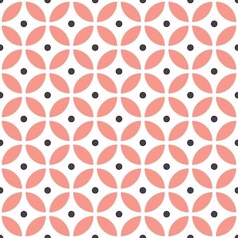 Abstraktes nahtloses geometrisches muster im skandinavischen stil.