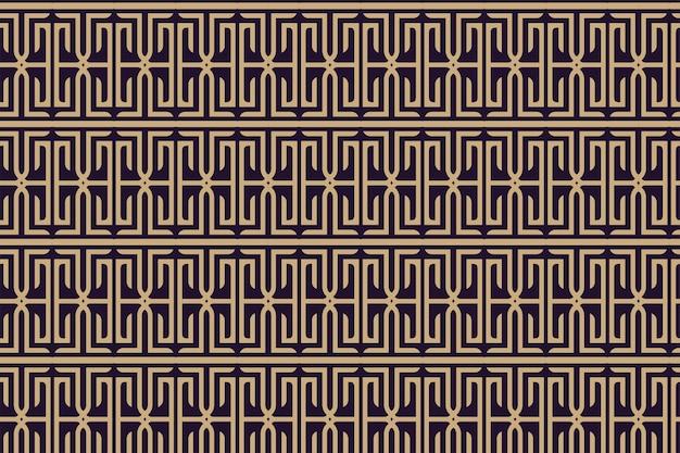 Abstraktes nahtloses geometrisches musterschablonendesign vektorillustration mit purpurrotem hintergrund und goldelement