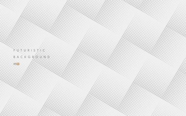 Abstraktes nahtloses graues halbtongittermuster auf weißem hintergrund. luxus und elegantes muster.
