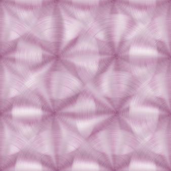 Abstraktes nahtloses muster aus glänzendem metall mit kreisförmiger gebürsteter textur in rosa farben