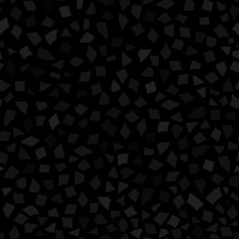 Abstraktes nahtloses muster aus kleinen papierstücken oder keramiksplittern in verschiedenen größen in schwarzen und grauen farben