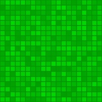Abstraktes nahtloses muster aus kleinen quadraten oder pixeln in grünen farben