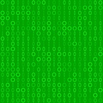Abstraktes nahtloses muster aus kleinen ringen oder pixeln in verschiedenen größen in grünen farben