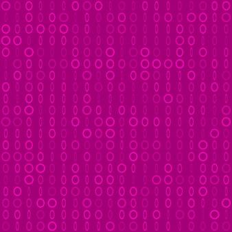 Abstraktes nahtloses muster aus kleinen ringen oder pixeln in verschiedenen größen in lila farben