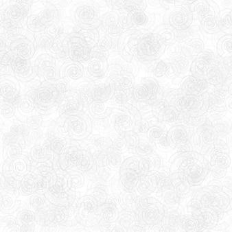 Abstraktes nahtloses muster aus zufällig verteilten durchscheinenden spiralen in weißen und grauen farben