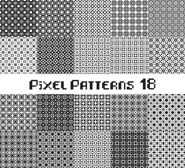 Abstraktes nahtloses muster im pixelstil. stellen sie den geometrischen designhintergrund des mosaiks ein.