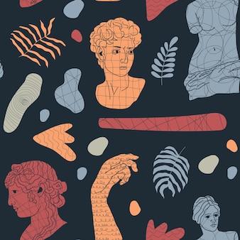 Abstraktes nahtloses muster mit antiken elementen