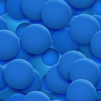 Abstraktes nahtloses muster oder hintergrund von löchern und kreisen mit schatten in blauen farben
