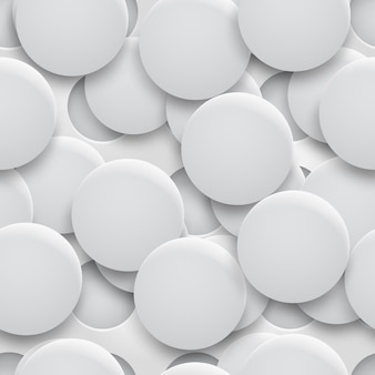 Abstraktes nahtloses muster oder hintergrund von löchern und kreisen mit schatten in weißen und grauen farben