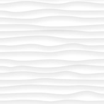 Abstraktes nahtloses muster von wellenlinien mit schatten in weißen und grauen farben