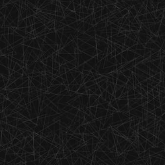 Abstraktes nahtloses muster von zufällig angeordneten konturen von dreiecken in schwarzen und grauen farben
